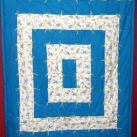 Bright Blues with Blue Baby Comforter 41x54