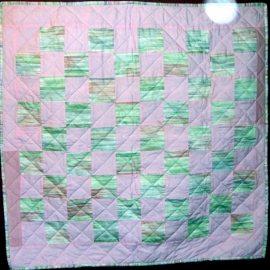 Pastel Checkerboard Baby Quilt 46x47