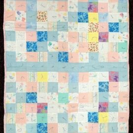 Pink and Blue Baby Comforter 42x51