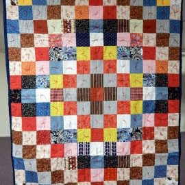 Trip Around the World Patchwork Comforter 57x73
