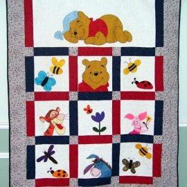 Winnie the Pooh Crib Quilt 70x90
